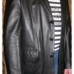 Пиджак из кожи