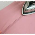Пошив розовой блузки со складками