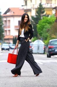 Брюки палаццо - новый тренд женской моды