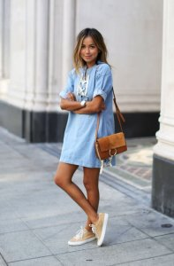Платье-рубашка. С чем лучше ее носить?
