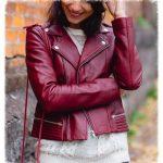 Женская куртка из кожи